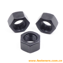 DIN934 Hexagon Nuts oxidation blackening high strength carbon steel
