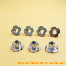 Din1624 T Nut 4 Prong Nut Locking Nut For Furniture